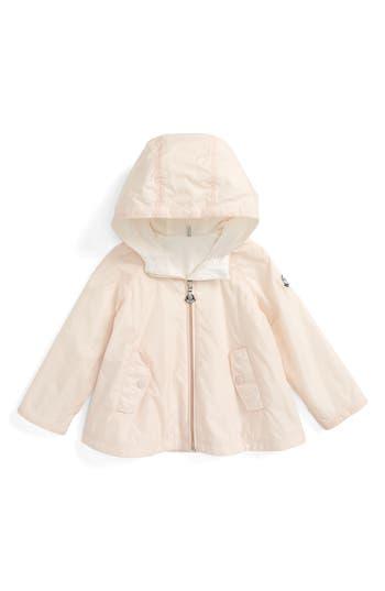 Infant Girl's Moncler Bluma Hooded Water Resistant Windbreaker Swing Jacket
