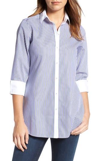 Foxcroft Mini Stripe Non-Iron Tunic Shirt