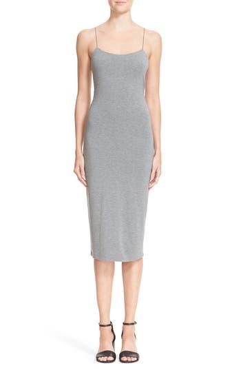 T By Alexander Wang Strappy Tank Dress, Grey