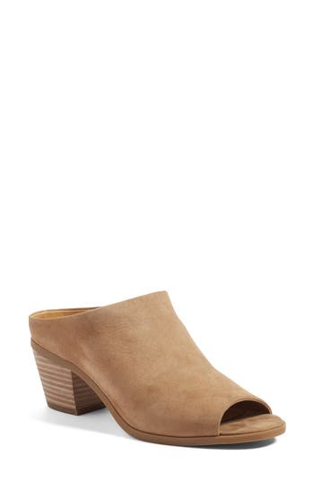 Lucky Brand Benah Block Heel Mule- Brown