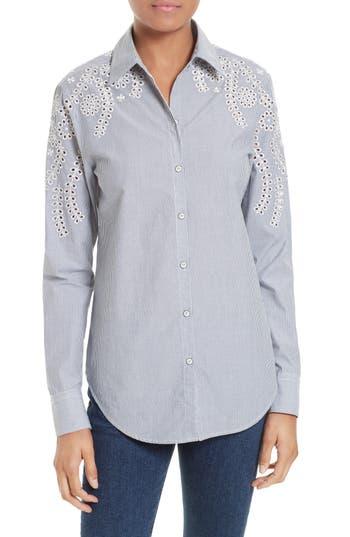 Women's Rag & Bone/jean Sahara Eyelet Cotton Shirt