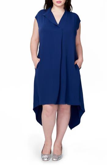 Plus Size Rachel Rachel Roy Harper Handkerchief Hem Dress, Blue