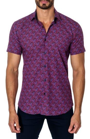 Men's Jared Lang Trim Fit Print Sport Shirt