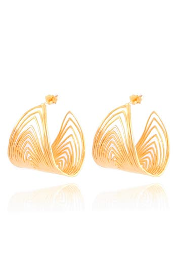 Women's Gas Bijoux Wave Hoop Earrings