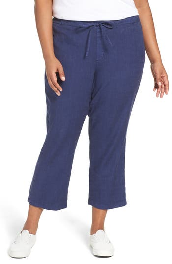 Plus Size Women's Nydj Jamie Wide Leg Crop Pants