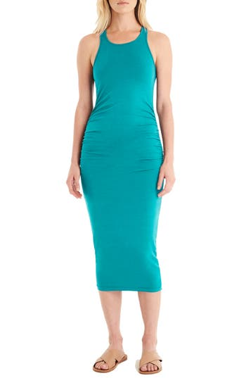 Michael Stars Racerback Midi Dress, Blue/green