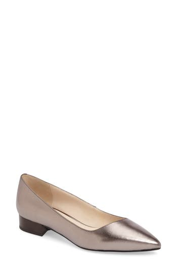 Cole Haan Heidy Pointy Toe Flat, Metallic