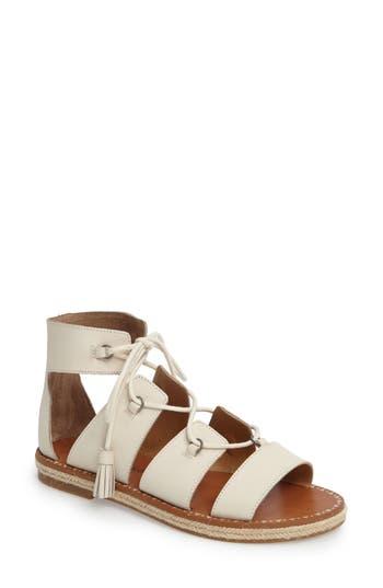 Lucky Brand Dristel Gladiator Sandal, White