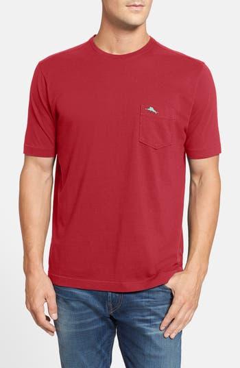 Big & Tall Tommy Bahama New Bali Sky Pima Cotton Pocket T-Shirt - Red