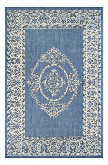 Couristan Antique Medallion Indoor/outdoor Rug, ft 0in x 3ft 7in - Blue