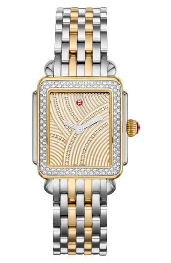 Women's Michele Deco Diamond Diamond Dial Bracelet Watch Head & Bracelet, 29Mm X 31Mm