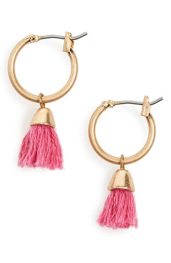 Women's Canvas Jewelry Tassel Hoop Earrings