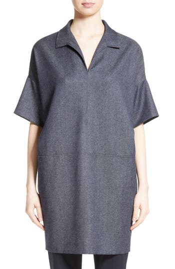 Max Mara Raid Virgin Wool Tunic, Blue