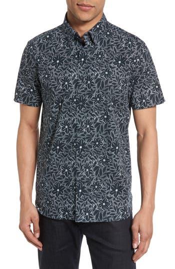 Men's Ted Baker London Calous Slim Fit Flower Print Sport Shirt