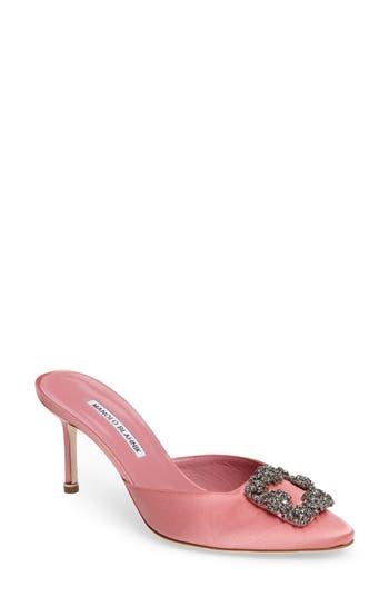 Manolo Blahnik Hangisi Embellished Mule - Pink