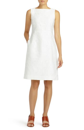 Lafayette 148 New York Jojo Fragmented Jacquard Dress, White