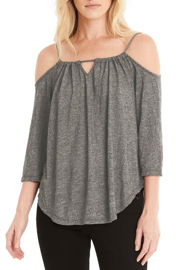Michael Stars Switchable Off The Shoulder Top, Size One Size - Green