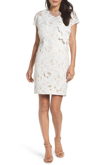 Women's Adrianna Papell Cecila Lace Sheath Dress & Jacket Set