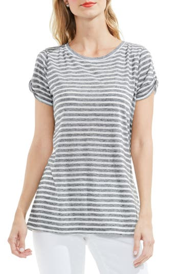 Two By Vince Camuto Twist Keyhole Sleeve Tee