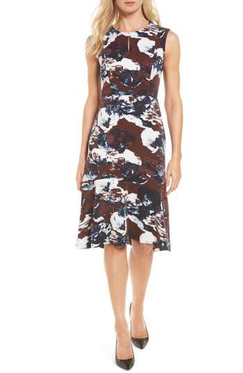 Emerson Rose Print Flounce Hem Dress