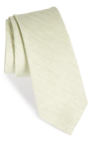 The Tie Bar Herringbone Linen & Silk Skinny Tie