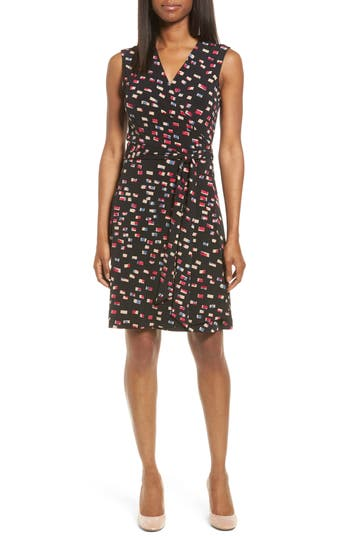 Women's Vince Camuto Abstractions Print Wrap Dress