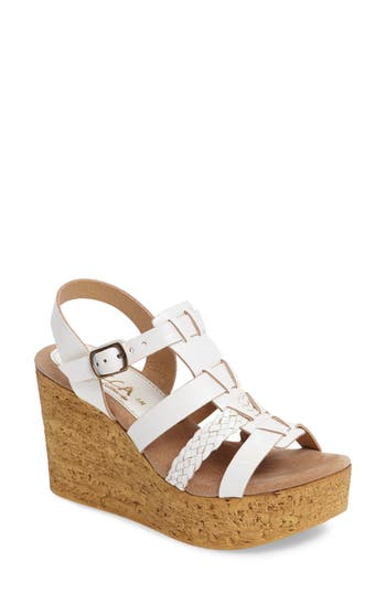 Women's Sbicca Pluto Wedge Sandal, Size 7 M - White