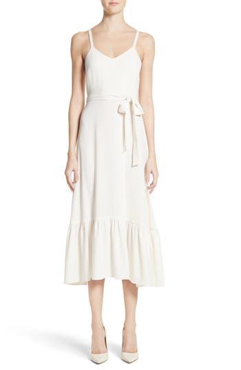 Women's Co Ruffle Crepe Midi Dress