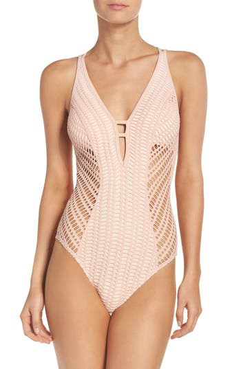 Robin Piccone Sophia One-Piece Swimsuit, Pink