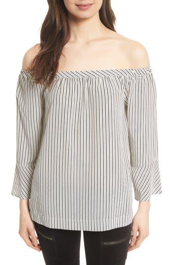 Women's Joie Dinora Off The Shoulder Stripe Silk Top