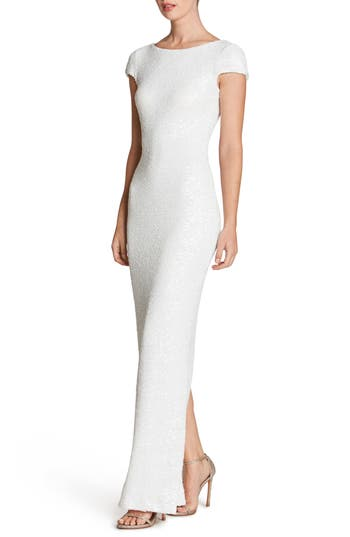 Dress The Population Teresa Body-Con Gown, White