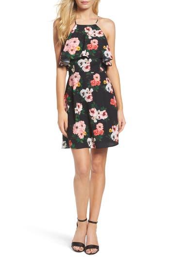 19 Cooper Woven Popover Dress, Black