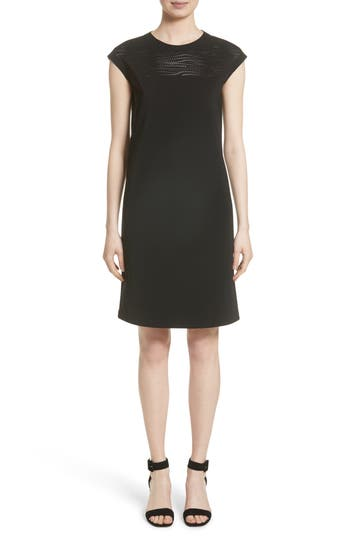 Lafayette 148 New York Laser Cut Shift Dress