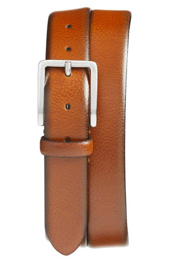 Johnston & Murphy Leather Belt, Tan