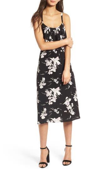 Leith Pleated Trim Midi Dress