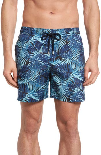 Vilebrequin Mahina Madrague Print Packable Swim Trunks