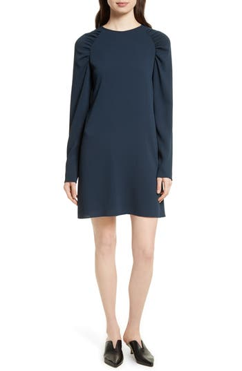 Tibi Sav Crepe Shift Dress, Blue