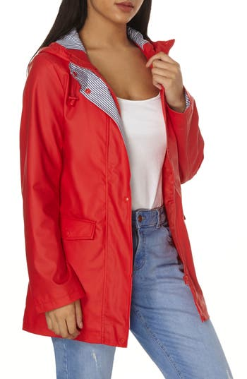 Women's Dorothy Perkins Raincoat, Size 16 US / 20 UK - Red