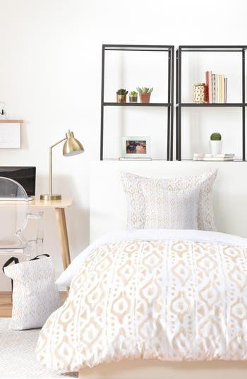 Deny Designs Wonder Forest Desert Bed In A Bag Duvet Cover, Sham & Accent Pillow Set, Size King - Pink