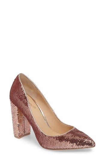 Jewel Badgley Mischka Luxury Pointy Toe Pump, Metallic