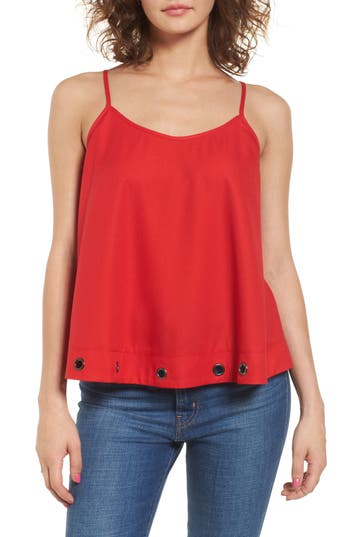 Women's Soprano Grommet Trim Tank, Size X-Small - Red