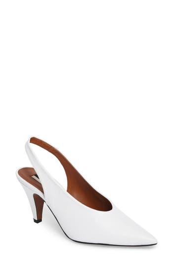 Topshop Jemma Slingback Pointy-Toe Pump - White