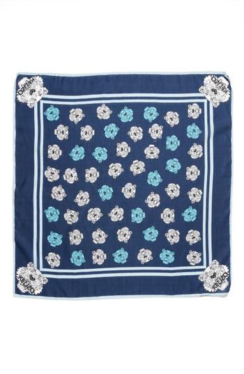 Women's Kenzo 'Tiger Bandana' Cotton & Silk Scarf