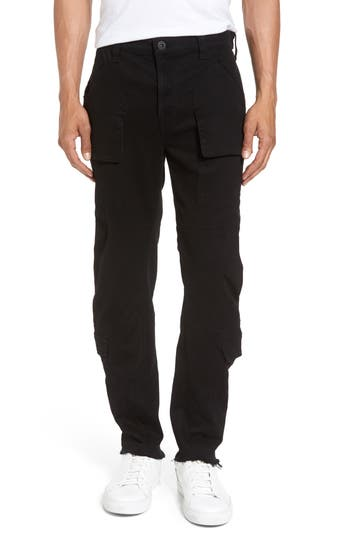 Hudson Jeans Endeavor Relaxed Straight Leg Cargo Pants, Black