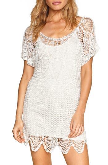 Amuse Sociey Honora Crochet Dress, White
