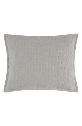 Vera Wang Puckered Diamond Matelasse Sham, Size Standard - Grey