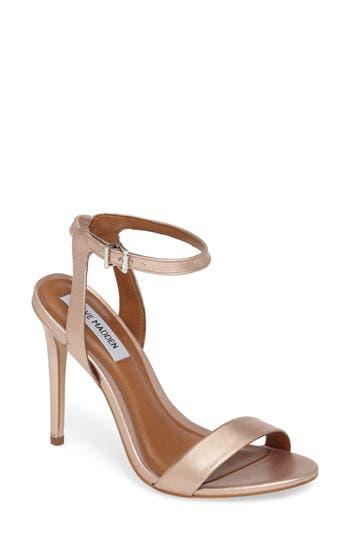 Women's Steve Madden Landen Ankle Strap Sandal, Size 6 M - Metallic