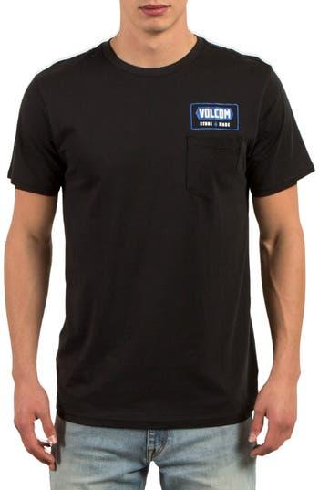 Volcom Shop Graphic Pocket T-Shirt, Black