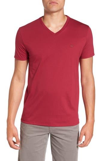 Lacoste Pima Cotton T-Shirt, Burgundy