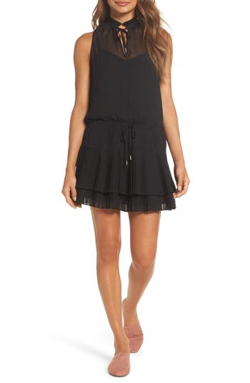 Greylin Ceci Pleated Dress, Black